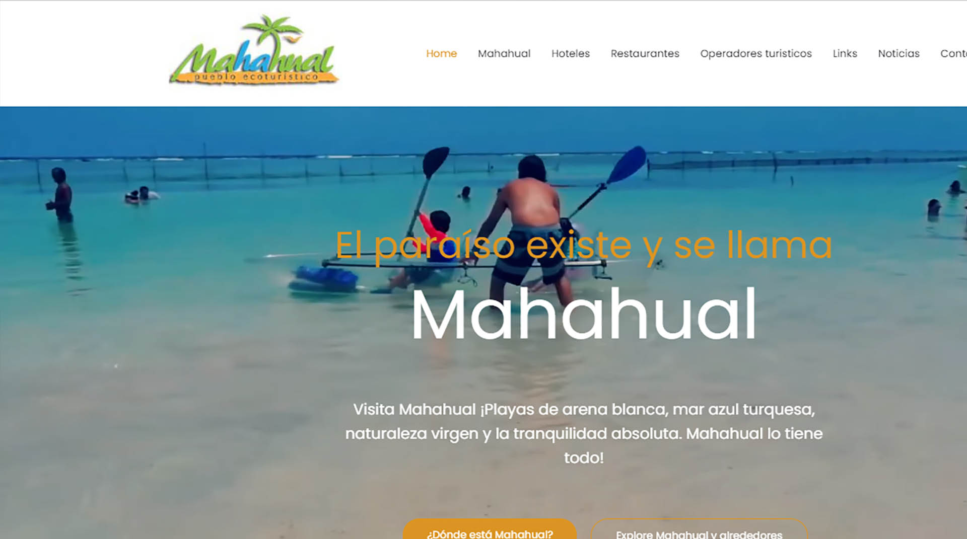 Website for Visit Mahahual